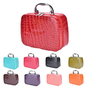 Fashion Makeup Storage Bag Case Jewelry Box Leather Travel Cosmetic ... 8efd1ebc5aac0