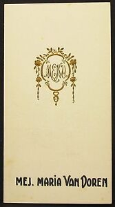 Antique-Menu-Map-Belgium-1935-Maria-Van-Doren-Belgium-Dinner-Menu-Card-Y-2331