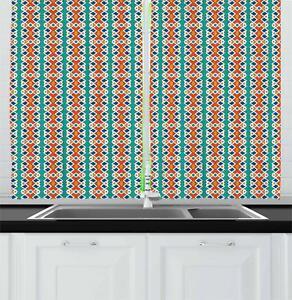 Tribal Ethnic Kitchen Curtains 2 Panel Set Window Drapes 55 X 39 Ebay