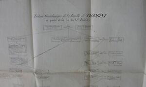 Tableau-Genealogique-de-la-famille-de-Clermont-Imprime-XIXeme-siecle
