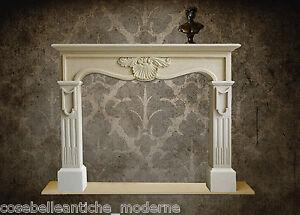Empire Fireplace Stone Camino Stile Impero Pietra Leccese Vintage