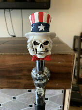 USA uncle sam Flag skull Beer Tap Handle Kegerator Resin Patriotic Zombie Bar