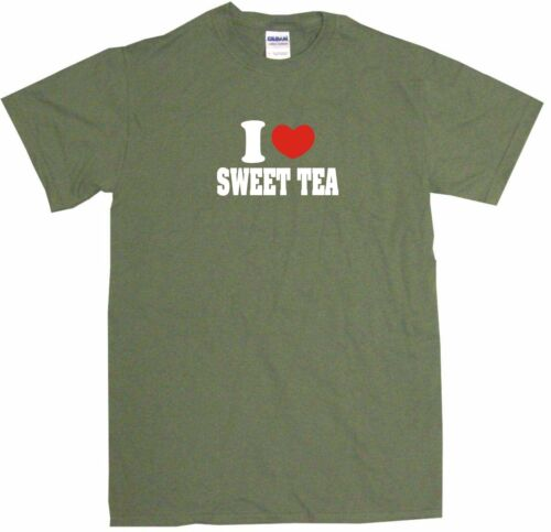 I Heart Love Sweet Tea Mens Tee Shirt Pick Size /& Color Small 6XL