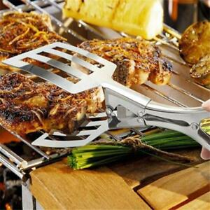 1Pc-Stainless-Steel-Food-Tong-BBQ-Buffet-Tongs-Bread-Salad-Meat-Clip-Pastry-CB