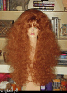 SIN CITY WIGS EXTRA LONG THICK VOLUME CURLY FLUFFY TEASED ...