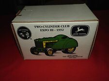JOHN DEERE 620 ORCHARD TRATOR, TWO CYLINDER CLUB EXPO III 1992 W/SET OF CARDS