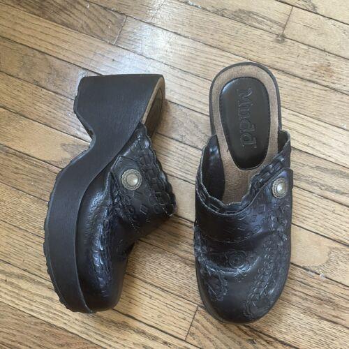 Vintage MUDD Clogs Mules Shoes Chunky Grunge Plat… - image 1