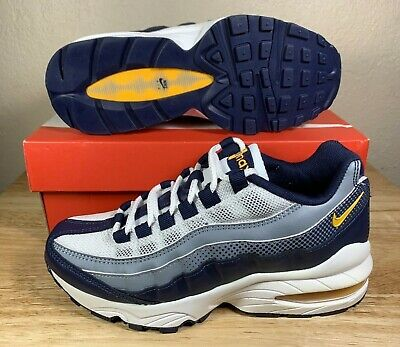 Nike Air Max 95 Grade School Shoes Size 7 Navy Blue Av5138-400 *mint *