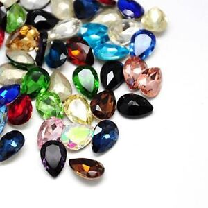 1-pcs-25mm-x-18mm-Faceted-Drop-Glass-Chaton-Crystals-Fancy-Stones-Cabochons