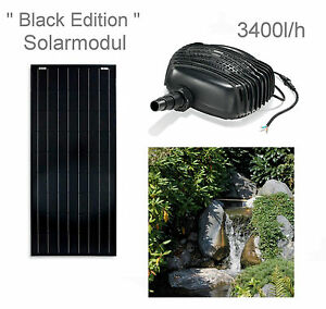 100w solar bachlaufpumpe teichpumpe solarpumpe wasserfall pumpe tauchpumpe ovp ebay. Black Bedroom Furniture Sets. Home Design Ideas