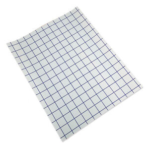 Clear transfer tape 10 sheet 12 x15 lined w blue grid for Plastic grid sheets crafts