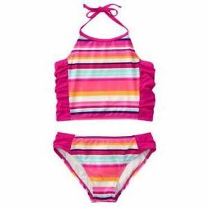 NWT-Gymboree-SWIM-SHOP-Sz-5-6-Striped-Tankini-Swimsuit-Bathing-Suit