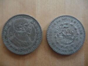 Un Peso - Silbermünze - 1961 - <span itemprop='availableAtOrFrom'>Ergoldsbach, Deutschland</span> - Un Peso - Silbermünze - 1961 - Ergoldsbach, Deutschland
