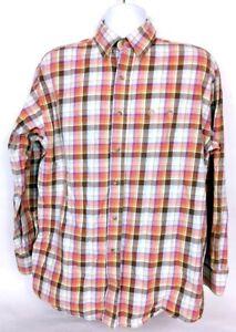 George-Strait-Wrangler-Men-039-s-Western-Shirt-Large-Cowboy-Cut-Plaid-Long-Sleeve