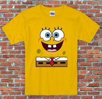 Spongebob Face Squarepants Cartoon Inspired T Shirt S - 2XL