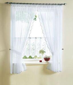 dekogarnitur raffgardine seitenschals voile h he 175cm. Black Bedroom Furniture Sets. Home Design Ideas