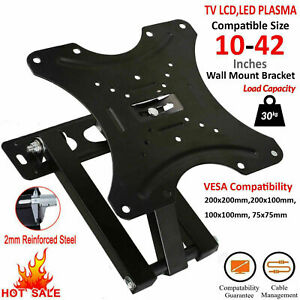 TV-Support-Mural-Inclinable-Pivotant-Pour-10-15-20-23-25-30-32-38-40-42-Plasma-LCD-DEL-3D