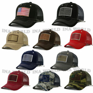 USA-AMERICAN-Flag-Hat-Tactical-Military-Snapback-Mesh-Trucker-Baseball-Cap