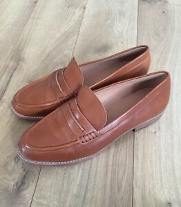 447d0a6f924 New Madewell The Elinor Loafer in Leather Dark Chestnut Sz 11 F5096 ...