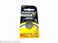 2 Packs of 1 Duracell Battery 3V CR2025 Lithium Medical Watch Calculator Key