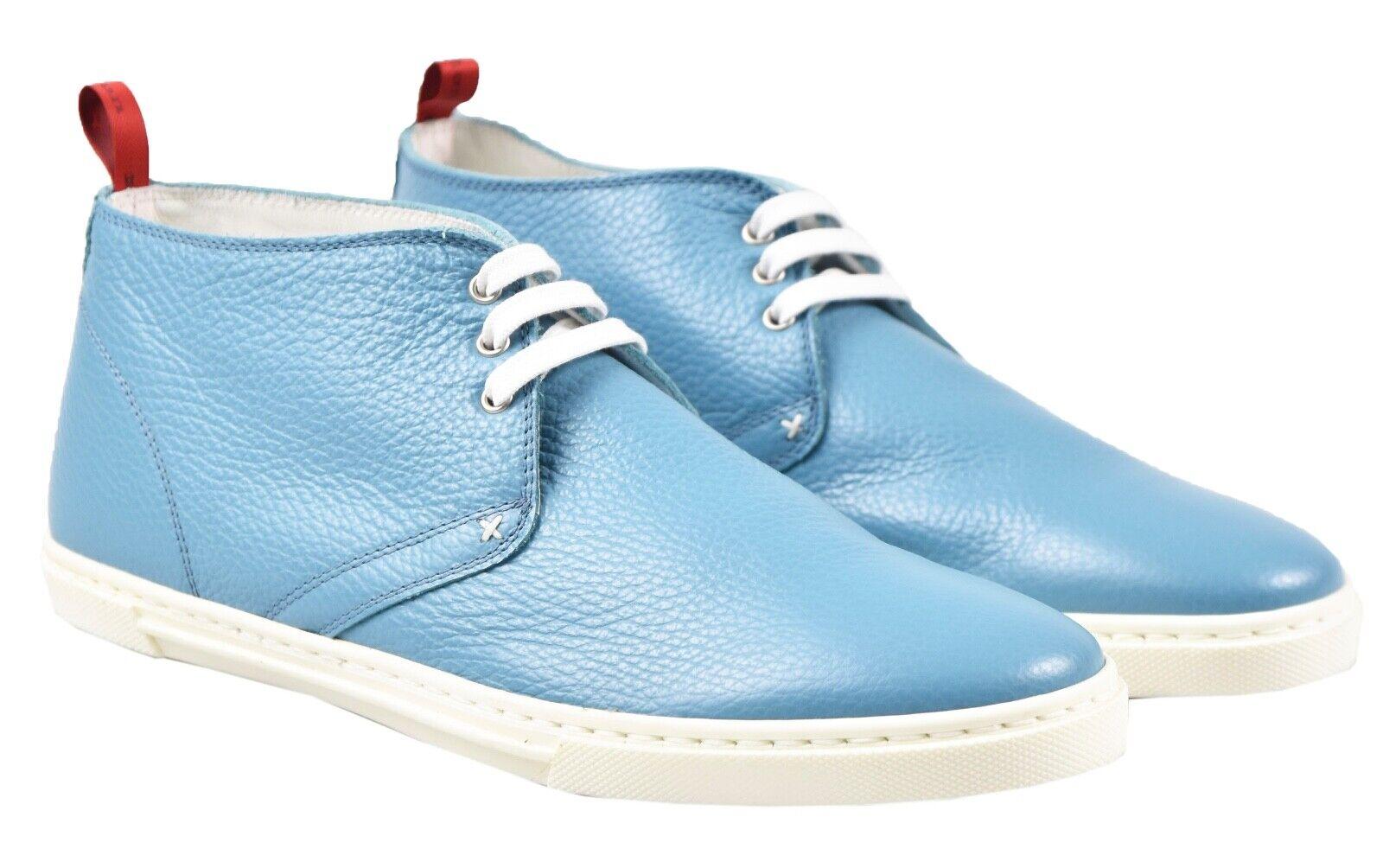 NEW KITON scarpe scarpe da ginnastica 100% LEATHER SZ 8.5 US 41.5 EU 19O124