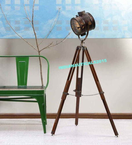 Theater Nautical Collectible Hollywood Spot Light Tripod Floor Lamp Home Decor