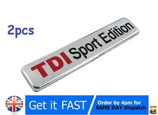 2x TDI Sport Edition Badge Emblem Logo Sticker For VW AUDI