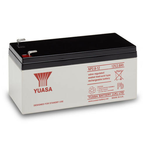 NP2.8 12 volt 2.8 ah GENUINE YUASA RECHARGEABLE ALARM// SECURITY BATTERY