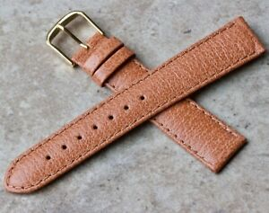 Padded-classic-color-Genuine-Pigskin-18mm-vintage-watch-strap-NOS-1960s-70s