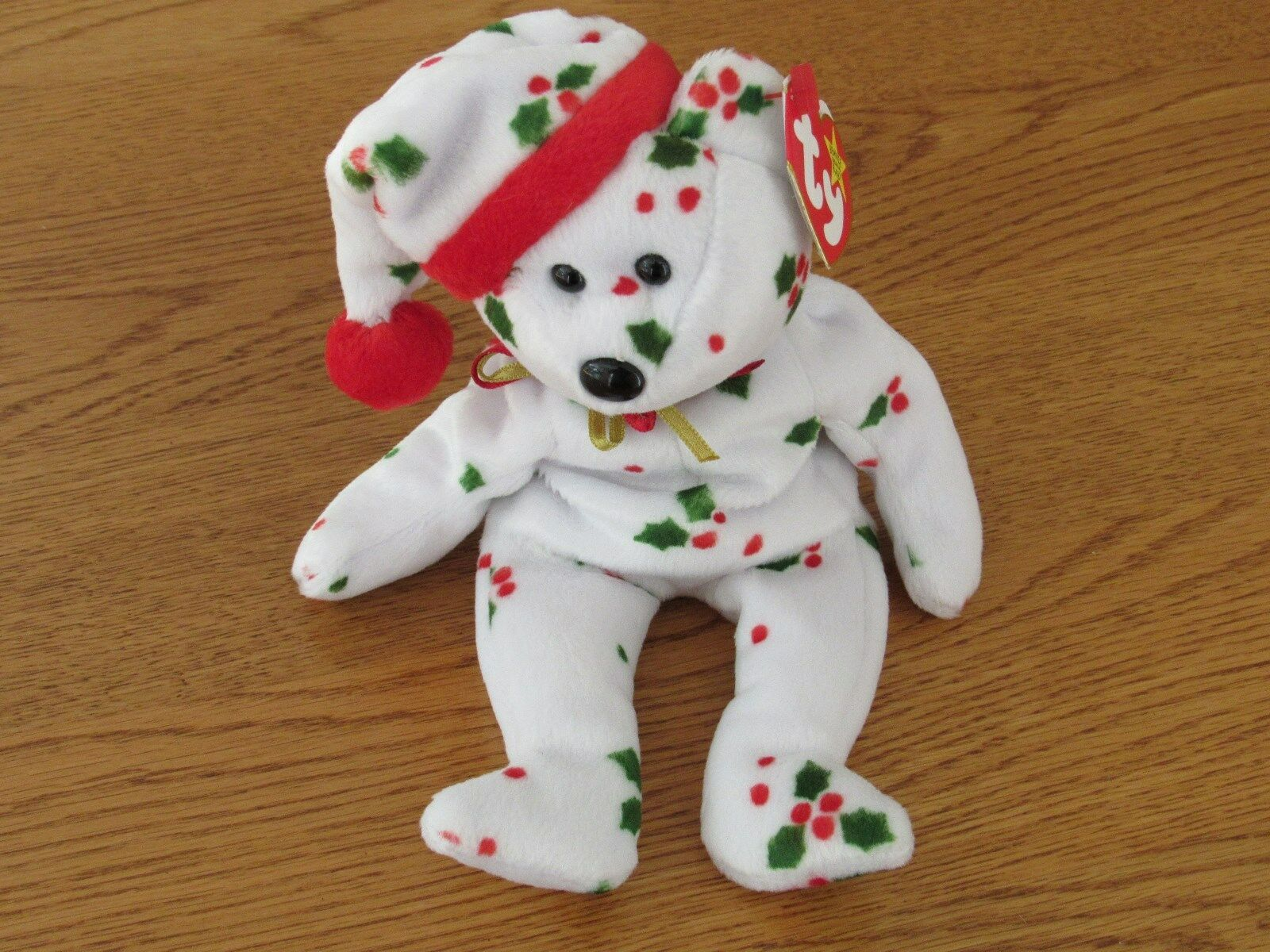 NEW TY Beanie Baby -  1998 Holiday Teddy   The Bear  - 1998 - Retired With Error