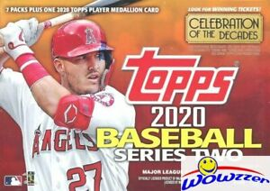 2020 Topps Series 2 Baseball EXCLUSIVE Sealed Blaster Box-Medallion COIN RELIC