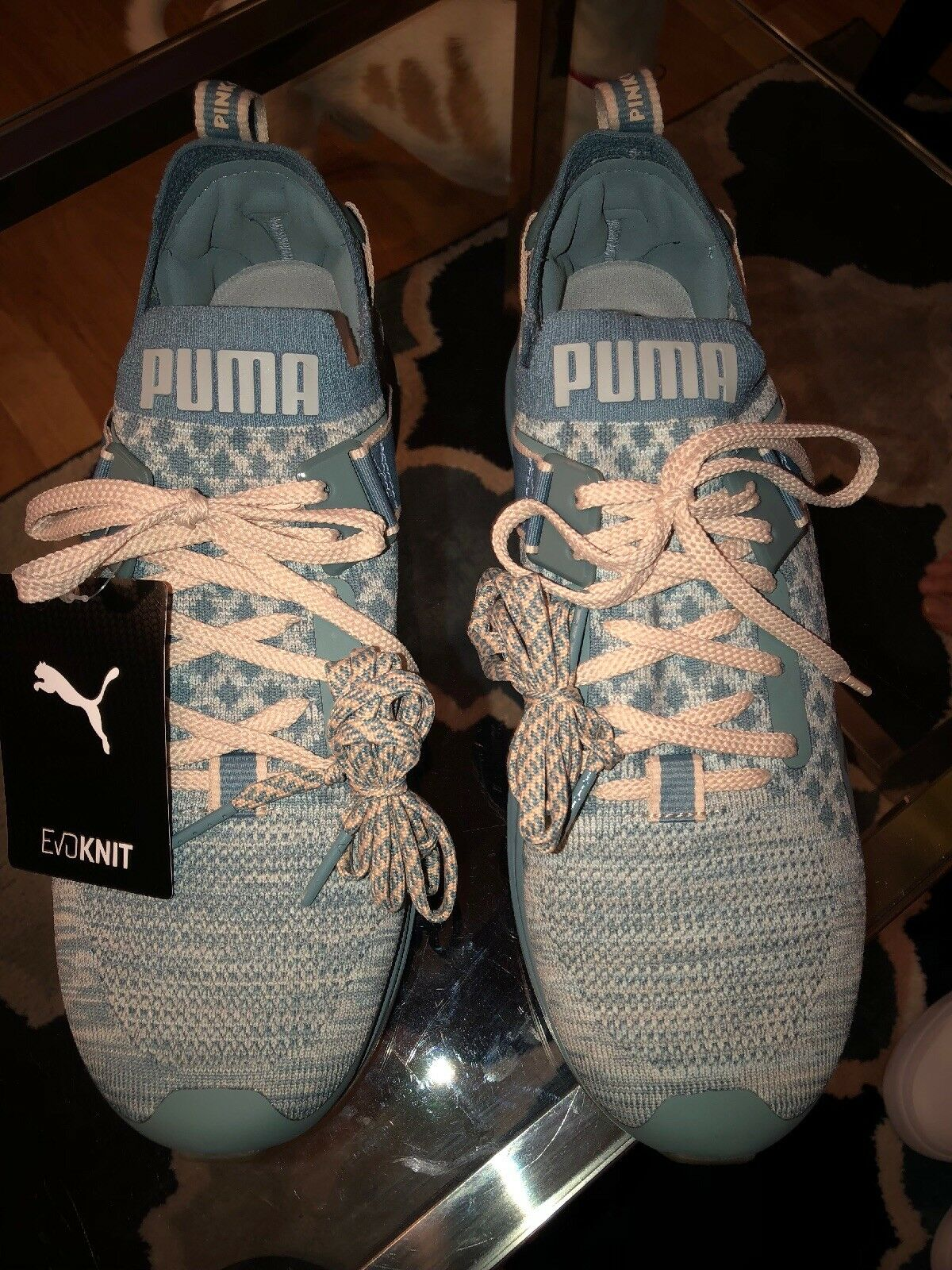MEN'S US SIZE 10 PUMA LIGHT blueE IGNITE EVOKNIT NEW
