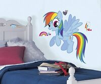 RoomMates 25.8 in. x 30.4 Rainbow Dash Peel and Stick Giant Wall Decal RMK2532GM Home Furnishings