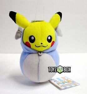 In STOCK Banpresto Pokemon Nebukuru Pikachu Dratini Plush Officially Licensed