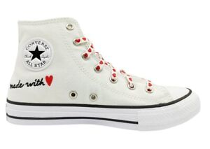 Scarpe donna ragazze Converse all star 671125C sneakers alte tela chuck taylor
