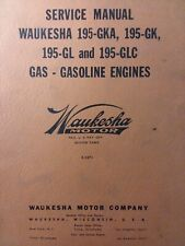 Waukesha Motor Gasoline 195 Gka Glc Engine Major Overhaul Service Repair Manual