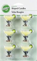 Margarita Candles 6pcs Fiesta Luau Cupcake Cake Decorations Candle Toppers