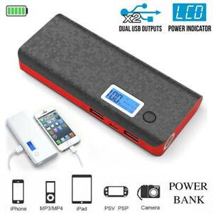 900000mAh 2 USB LED Power Bank Zusatzakku Batterie Ladegeräte für alle Handys