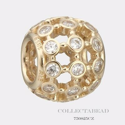 Authentic Pandora 14kt Gold In The Spotlight CZ Bead 750825CZ *SPECIAL*