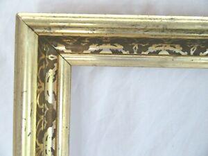 Antique-Fits-9-X-11-034-Lemon-Gold-Gilt-Picture-Frame-Stencil-Wood-Gesso-Fine-Art