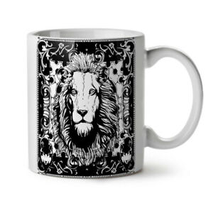 Lion Calm Face Animal NEW White Tea Coffee Mug 11 oz   Wellcoda