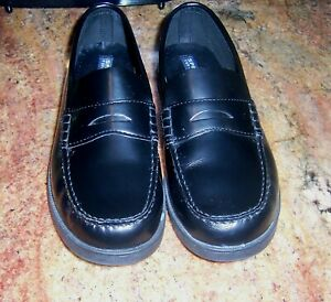 Sperry Top Sider Sz 7 Youth Kids Leather Shoes Black Penny ...