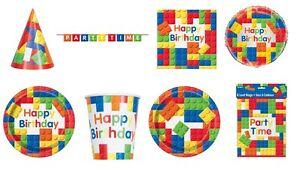 Image is loading BUILDING-BLOCKS-Birthday-Party-Range-Lego-Tableware-&-  sc 1 st  eBay & BUILDING BLOCKS Birthday Party Range (Lego) Tableware ...