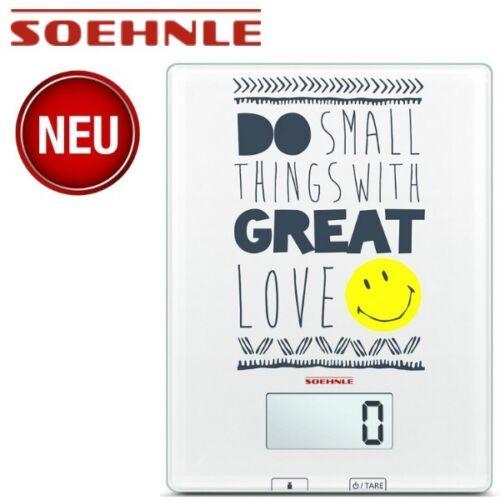 Soehnle 66299 Digitale Glas-Küchenwaage Smiley Do small things Küchenwaage Waage