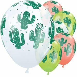 Cactus-Assorted-Latex-Balloons-Mexican-Fiesta-Wild-West-Party-Decoration-x-5