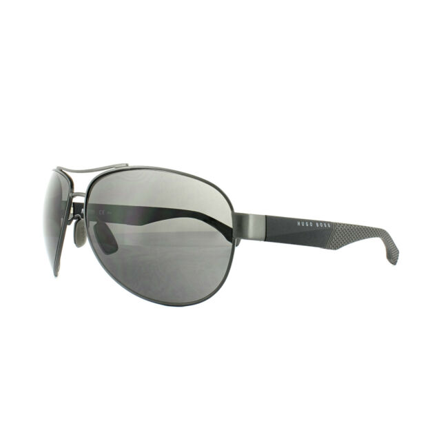 5293b0f324 Glasses Sun Hugo Boss 0915 s 1xq (e5) Grey Black for sale online