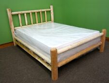 Premium Rustic Log Bed - Twin - $259 - Double Log Side Rails & Slats Incl.
