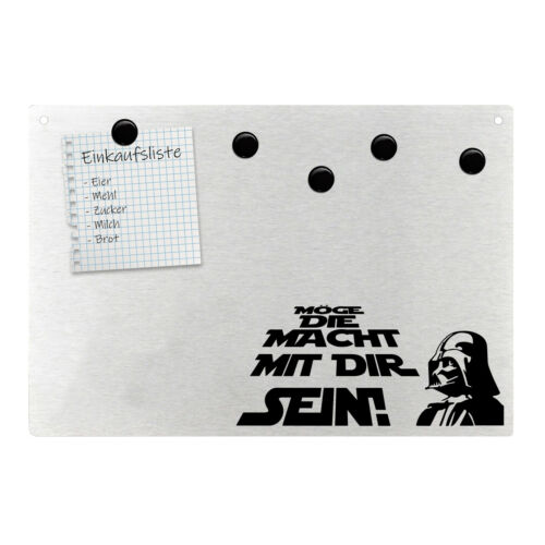 Magnetpinnwand Wandtafel für STAR WARS Fans Darth Vader Edelstahl magnetisch