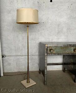 Details About Vintatge Mcm Br And Marble Base Floor Lamp By Frederick Cooper Superb L K