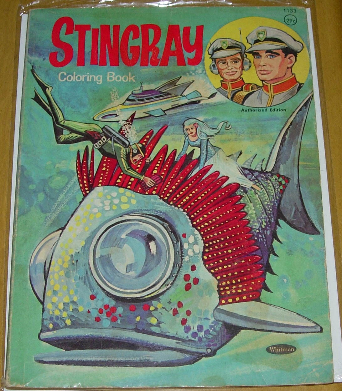 STINgrau COLORING BOOK  WHITMAN 1966  GERRY ANDERSON  SUPERMARIONATION